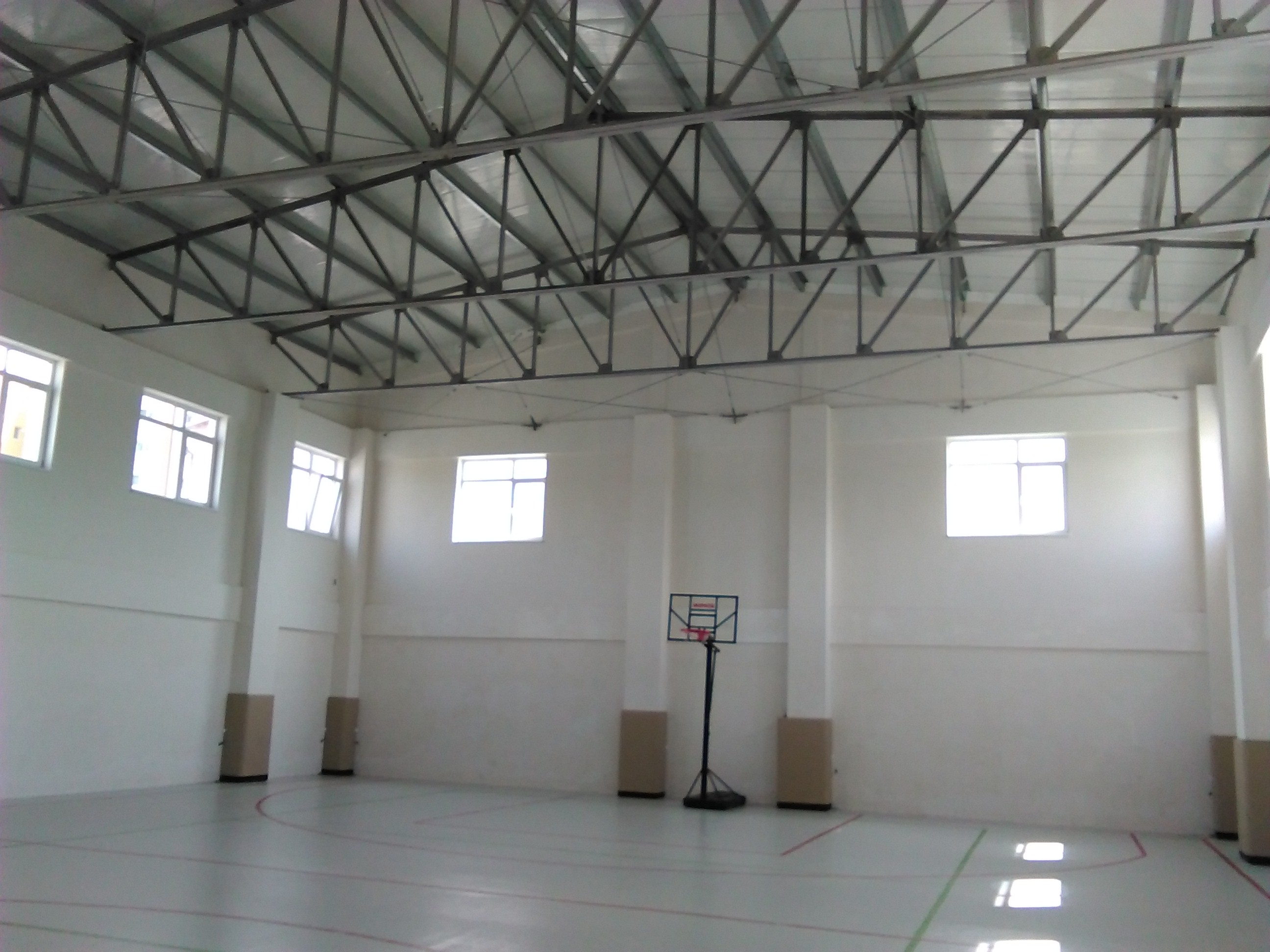 The gym, now being used.